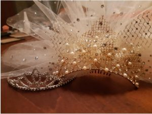 Tulle added by me. Crystals added by Lucinda Panties!