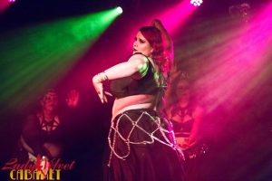 LVC Bellydance Student Performing Onstage