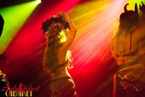 LVC Bellydance Students Performing Onstage